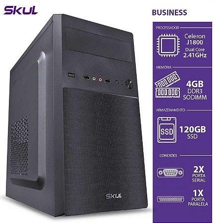 COMPUTADOR BUSINESS B100 - CELERON DUAL CORE J1800 2.41GHZ 4GB DDR3 SODIMM SSD 120GB 2 SERIAL 1 PARALELA FONTE 200W