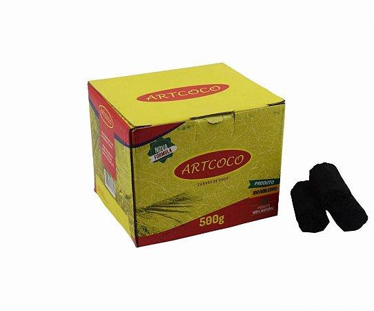 CARVÃO PARA NARGUILE HEXAGONAL ART COCO 500G - C/30