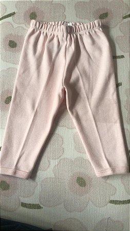 Calça em Suedine Rosa Tam G ( 9-12 meses)