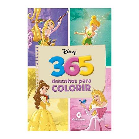 Livro 365 Desenhos Para Colorir Disney Princesas e Fadas - Culturama