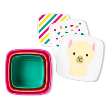 Kit com 3 Porta Snacks Zoo Lhama - Skip Hop