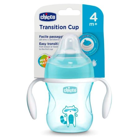 Copo Transition Cup 4m+ Menino 200ml - Chicco