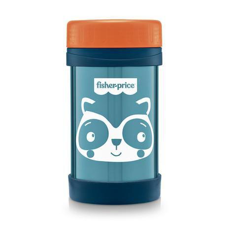 Pote Térmico Aço Inox Hot & Cold Azul Blueberry - Fisher-Price