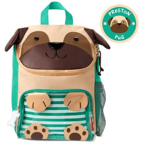 Mochila Escolar  Zoo Cachorro Pug - Skip Hop