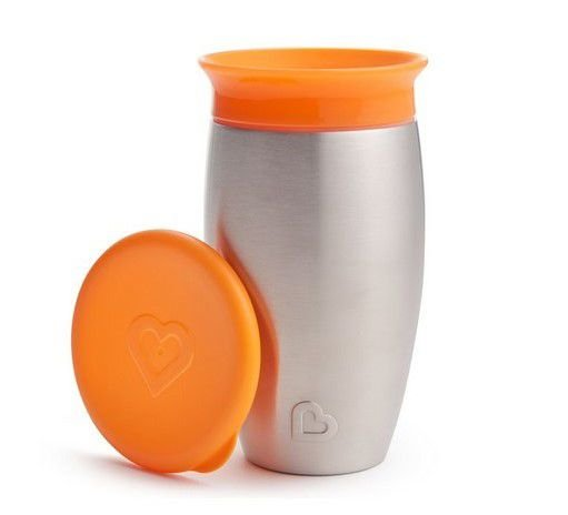 Copo Térmico de Treinamento 360 (Miracle Cup) Laranja - Munchkin