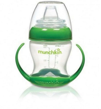 Copo de Treinamento Flexível com alças 118ml Verde- Munchkin
