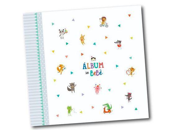 Album do Bebê Bichinhos Cinza
