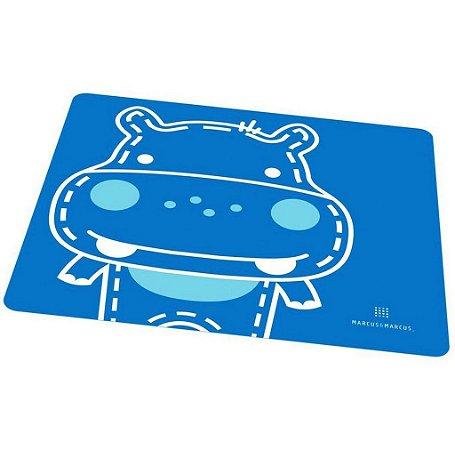 Jogo Americano em Silicone Hipopotamo Azul - Marcus & Marcus