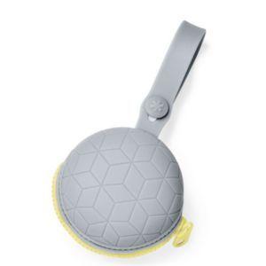 Porta Chupeta de Silicone Cinza - Skip Hop