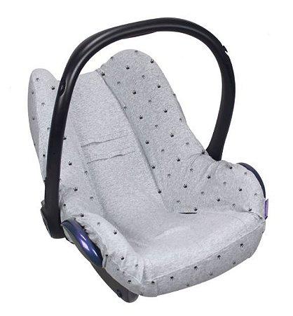 Capa de Bebe Conforto- Cinza  Claro