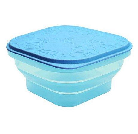 Container Retratil para Refeição ou Snack Azul Tiffany - Marcus&Marcus