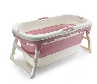 Banheira de Plástico Grande Rosa - Baby Pil
