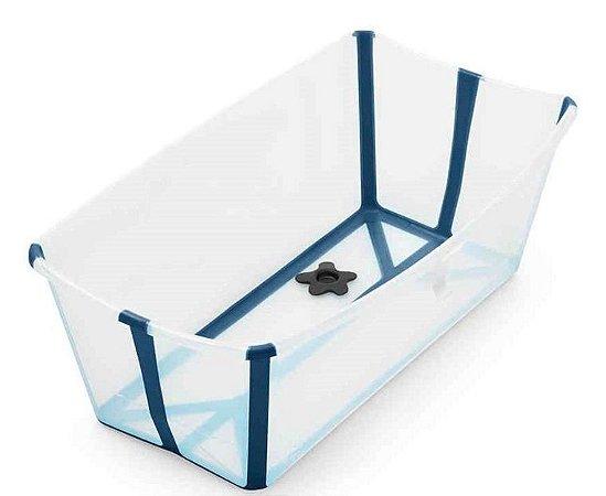 Banheira Flexível Azul com Plug Térmico - Stokke