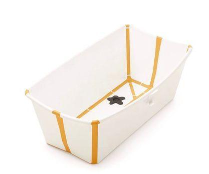 Banheira Flexível Amarela com Plug Térmico - Stokke
