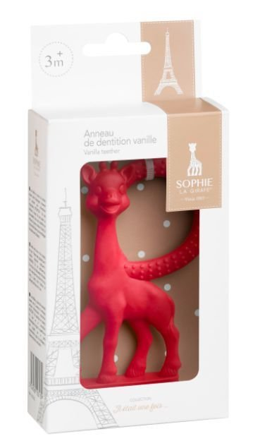Mordedor Vanilla Sophie La Girafe Vermelho
