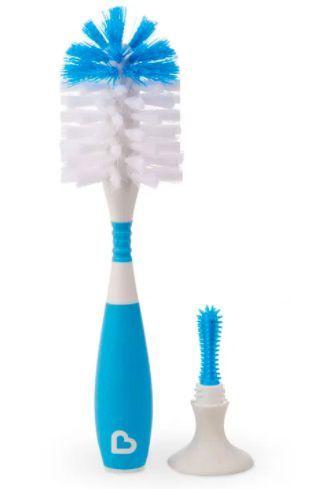 Escova de Mamadeiras Flexível com ventosa Munchkin - Azul
