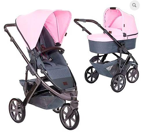 Carrinho de Bebê ABC Design - Salsa 3 Rose com Moises