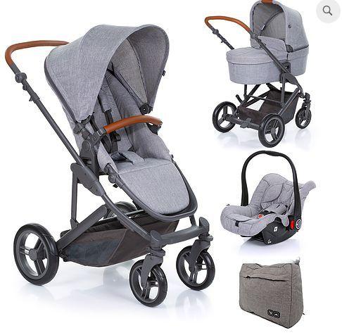 COMO4 Woven Grey (Carrinho + Moisés + BB Conforto + Bolsa Maternidade)