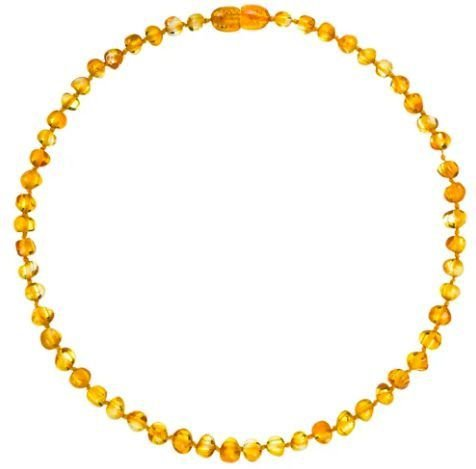 Colar de Âmbar  Baroque Honey - 36 cm