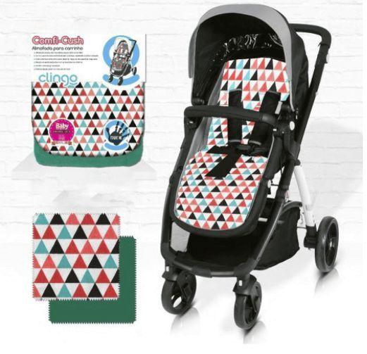Almofada para Carrinho de Bebê Comfi Cush Dove Triangles