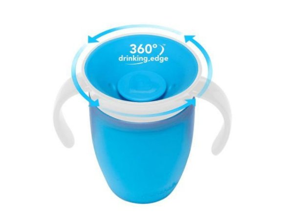 Copo de Treinamento  360 Azul 207 ml - Munchkin