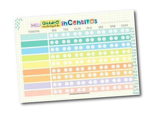 Bloquinho de Incentivos Coloridos - Colore
