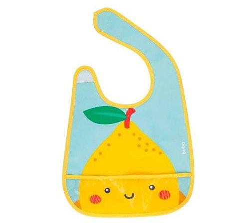 Babador com bolso Buba - Frutti Limão