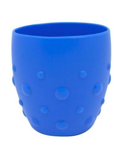 Copo em Silicone Para Treinamento Com Grip Hipopotamo Azul - Marcus & Marcus