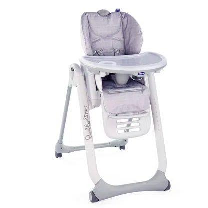 Cadeira de Alimentação Polly 2 Start Happy Silver - Chicco