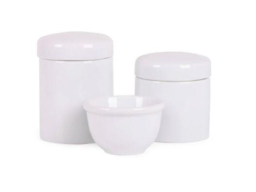 Kit Higiene Branco Porcelana