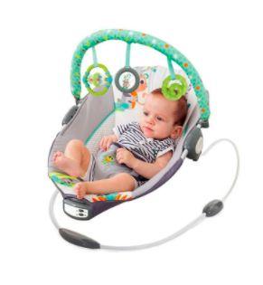 Cadeira de Descanso Infantil Musical e Vibratória Reclinio Cinza - Mastela