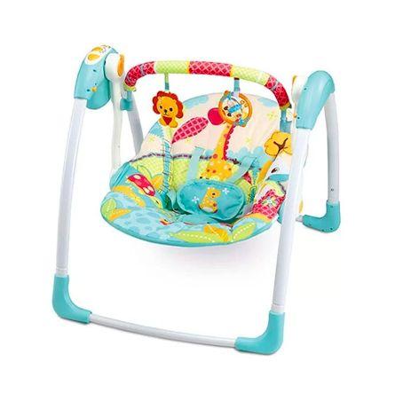 Cadeira de Balanço Automática Com Timer Verde Girafa - Mastela