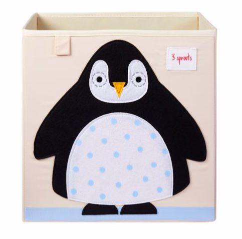 Cesto Organizador Quadrado Pinguin - 3 Sprouts