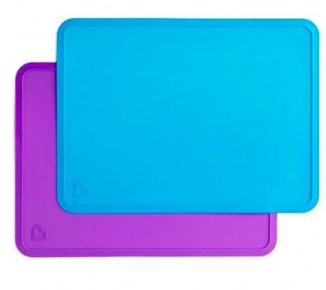 Jogo Americano de Silicone ( Embalagem com 2 Unidades) Roxo e Azul