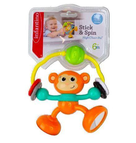 Brinquedo Interativo Macaco de Atividades com Sucção na Base