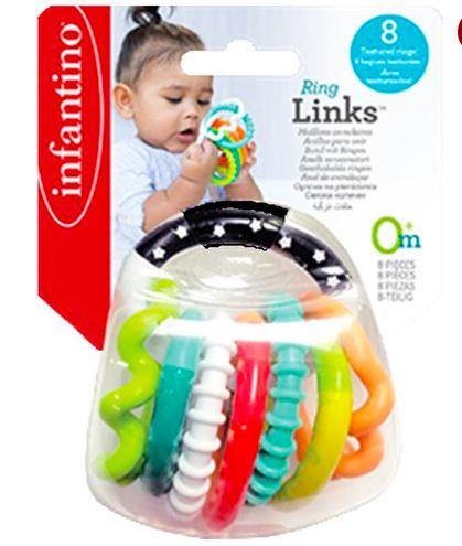 Chocalho Interativo com Aneis Texturizados - Infantino