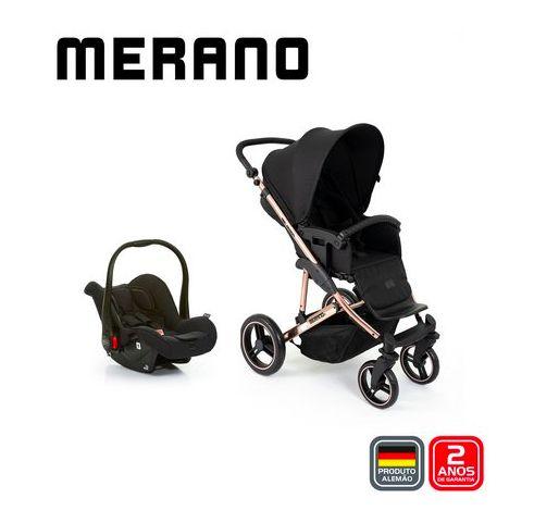 Carrinho de Bebê ABC Design - Merano Rose Gold Duo Travel System