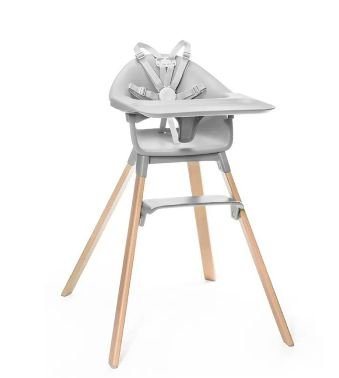 Cadeira de Alimentação Clikk  Cinza Stokke - Modelo Novo