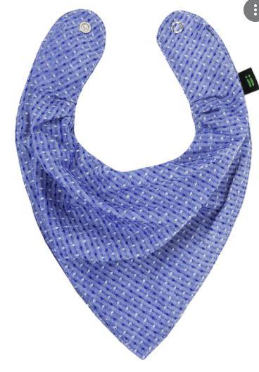 Babador Bandana Textura Azul