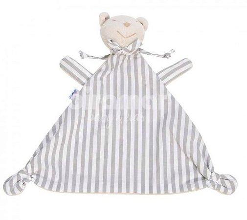 Naninha para Bebê Estampa Listrado Cinza