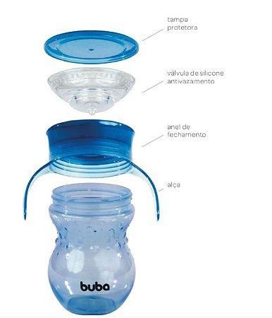 Copo 360 com alça Azul 250 ml - Buba