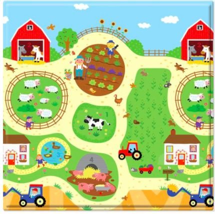 Tapete Baby Play 125 X125 Busy Farm