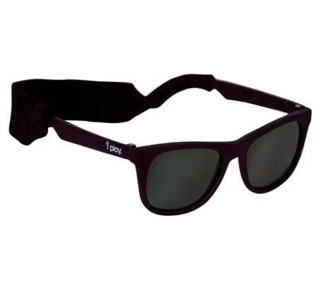 Óculos de Sol Flexivel Preto  0 -2 Anos com Proteção Solar