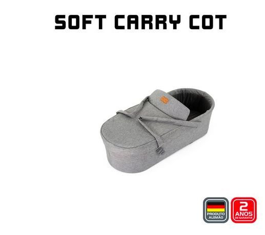 Soft Carry Cot Merano Woven Grey - ABC Design