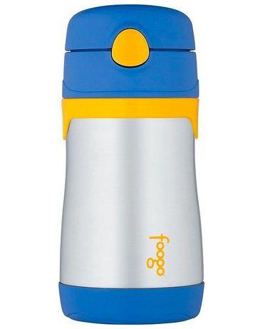 Garrafinha Térmica Azul e Amarelo Thermos Foogo 290 ml