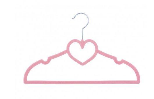 Kit de Cabides com 5 unidades Coração Rosa Aveludado