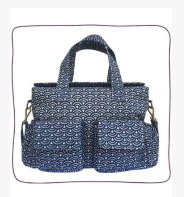 Baby Bag Anne Azul Wave