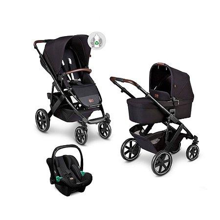 Carrinho de Bebê ABC Design - Salsa 4 Linha ECO Midnight com Bebê Conforto Tulip e Moisés