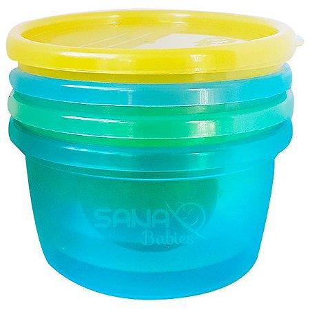 Potes Sana Multiuso Azul 236 ml (4 uni) - Sana Babies