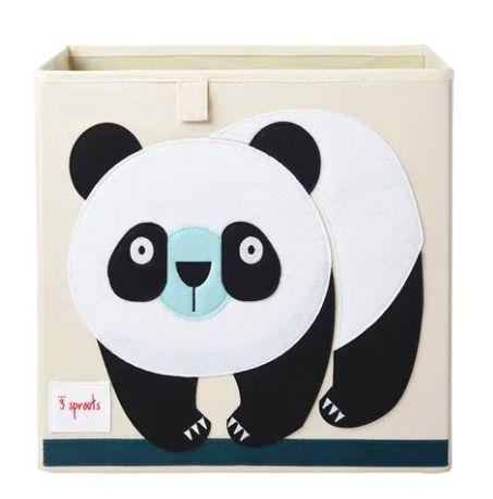 Cesto Organizador Quadrado Panda - 3 Sprouts